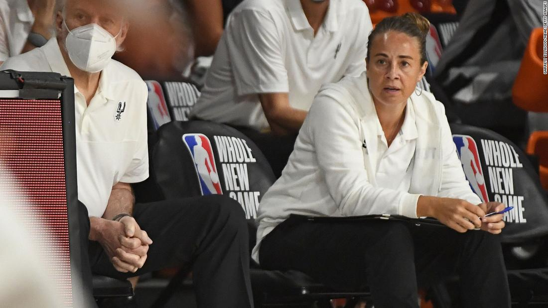 Becky Hammon becomes first woman to direct an NBA team as head coach in a regular season game