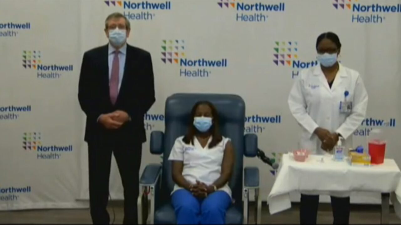 NY gives first coronavirus vaccine to health care worker