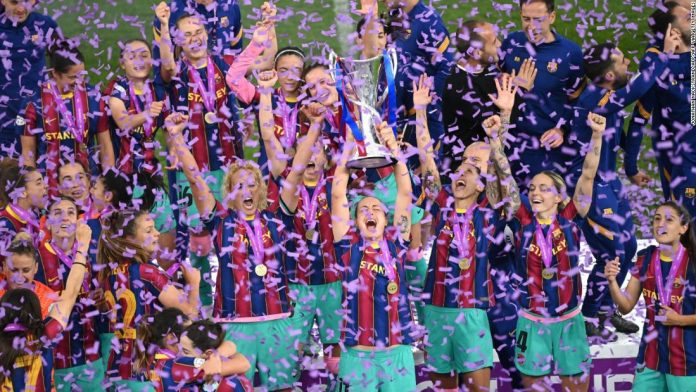 Barcelona thrashes Chelsea to win first Women's Champions League