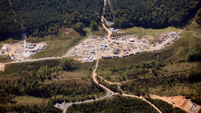 The Colonial Pipeline in Helena, Alabama transports fuel along the East Coast. It had to stop operations after it was victim of a cyber attack. Pic AP