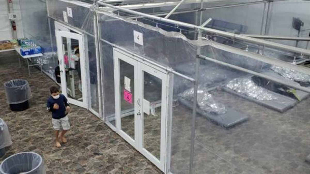 DHS releases images of empty Border Patrol facility as child migrants move to HHS shelters