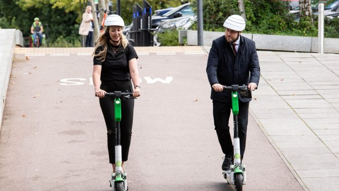 Lime is operating an e-scooter trial in Milton Keynes