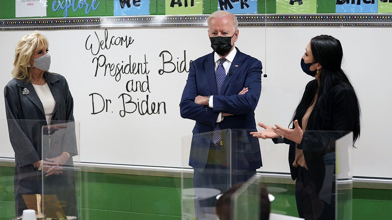Fifth graders tell the Bidens virtual learning allowed them to eat and sneak in a nap
