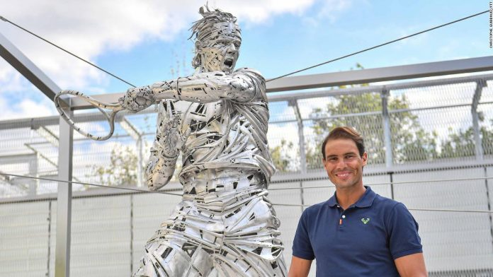 French Open champ Rafael Nadal, in 5 statues