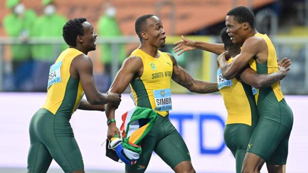 South Africa's relay team not getting carried away ahead of Olympics after win