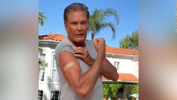 David Hasselhoff makes video appeal for German vaccination campaign