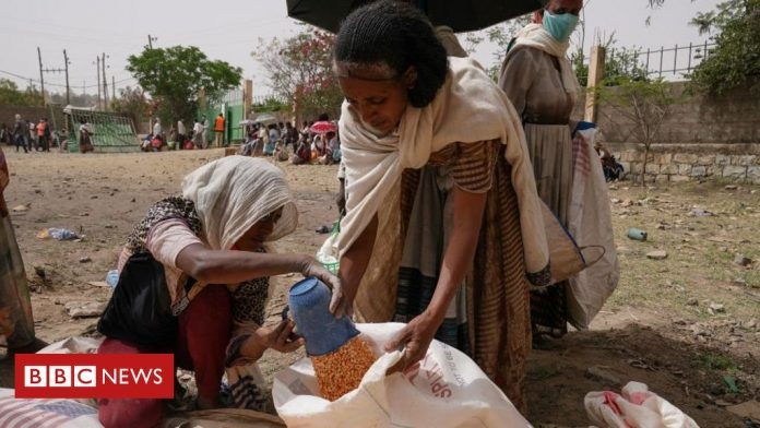 Ethiopia's Tigray crisis: Abiy Ahmed denies reports of hunger