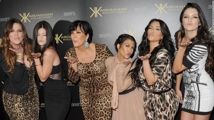 (From left) Khloé Kardasian, Kylie Jenner, Kris Jenner, Kourtney Kardashian, Kim Kardashian and Kendall Jenner attend the Kardashian Kollection launch party at The Colony  in Hollywood, California, August 17, 2011.