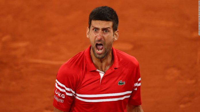 Novak Djokovic lets out guttural scream after setting up French Open semifinal against Rafael Nadal