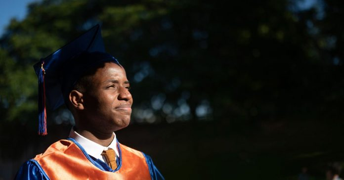 The pandemic upended his senior year in Chicago. It also taught him to let go.