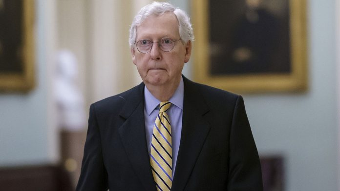 McConnell condemns Biden fury over GOP voting reform as 'utter nonsense'