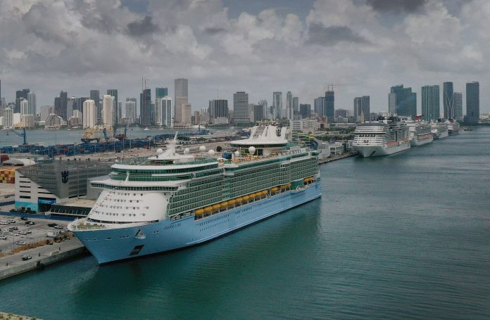 Royal Caribbean says 6 Covid cases discovered on board a ship; shares fall