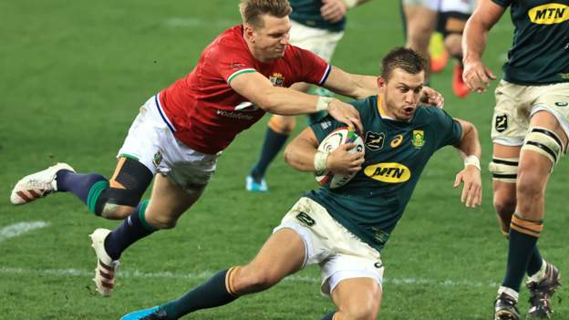 South Africa 27-9 British and Irish Lions: Springboks level series in fiery encounter