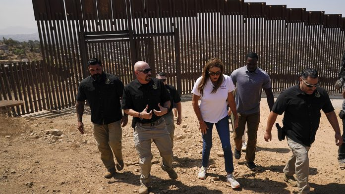 Caitlyn Jenner visits US-Mexico border ahead of Newsom recall election: 'We have to finish the wall'