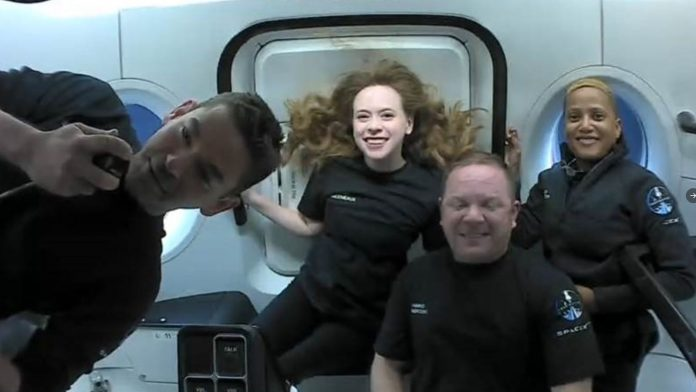 SpaceX Inspiration4 mission: Civilian astronauts have 'incredible' first day in space as new pictures released of the crew   Science & Tech News